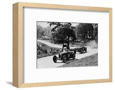 'Thrilling racing in rural England: Bugattis at Donington', 1937-Unknown-Framed Photographic Print