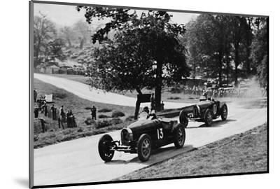 'Thrilling racing in rural England: Bugattis at Donington', 1937-Unknown-Mounted Photographic Print