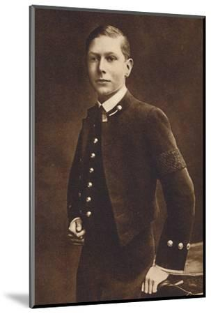 'Aged sixteen - Prince Albert, Naval cadet at Osborne', c1910, (1937)-Unknown-Mounted Photographic Print