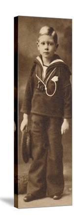 'Still-sailor-suited - Prince Albert at the age of six', c1901 (1937)-Unknown-Stretched Canvas Print