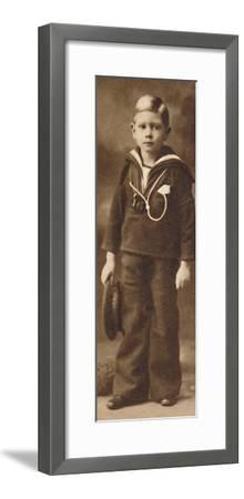 'Still-sailor-suited - Prince Albert at the age of six', c1901 (1937)-Unknown-Framed Photographic Print