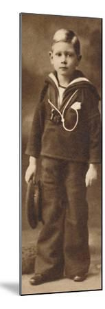 'Still-sailor-suited - Prince Albert at the age of six', c1901 (1937)-Unknown-Mounted Photographic Print