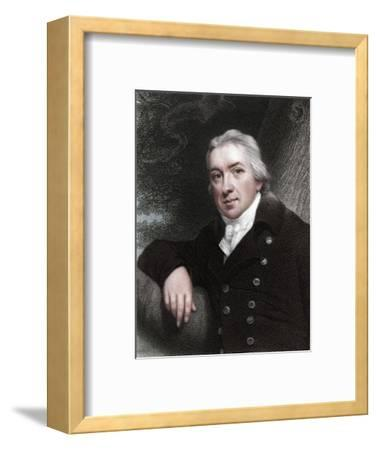 Edward Jenner, English physician, 1837-Unknown-Framed Giclee Print