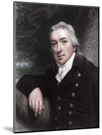 Edward Jenner, English physician, 1837-Unknown-Mounted Giclee Print