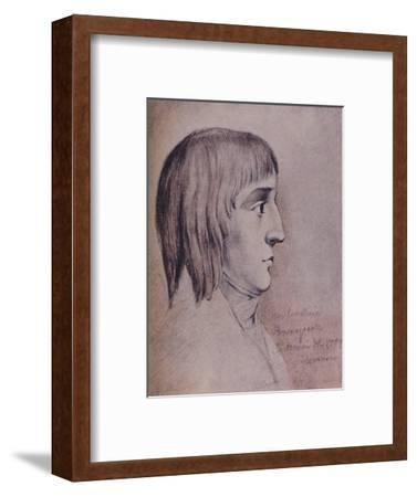 'Napoleon Bonaparte in 1785, Aged Sixteen', (1896)-Unknown-Framed Giclee Print