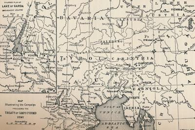 'Map Illustrating the Campaign Preceding the Treaty of Campo-Formio, 1797', (1896)-Unknown-Framed Giclee Print
