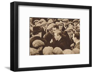'Visiting the Liner Queen Mary', 1937-Unknown-Framed Photographic Print