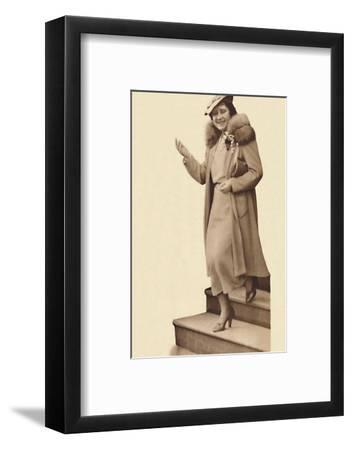 'Leaving No. 3 Belgrave Square, for the christening of Princess Alexandra' February 9, 1937-Unknown-Framed Photographic Print
