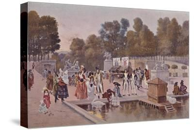 'In The Garden of the Tuileries', 1896-Unknown-Stretched Canvas Print