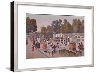 'In The Garden of the Tuileries', 1896-Unknown-Framed Giclee Print