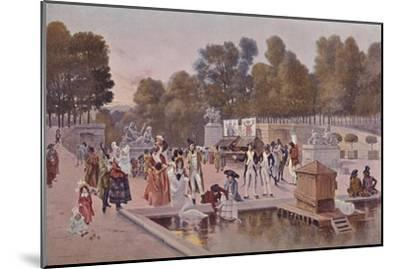 'In The Garden of the Tuileries', 1896-Unknown-Mounted Giclee Print