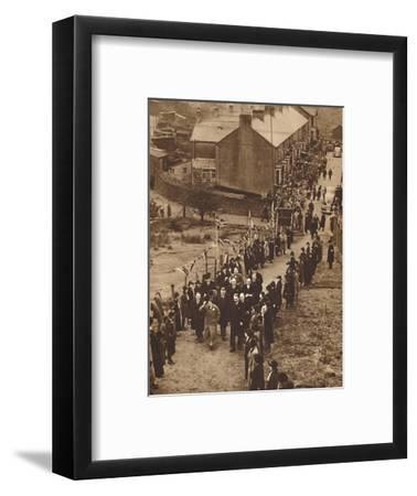 'Welcomed to Monmouthshire' - King Edward at Abertillery, Nov 1936 (1937)-Unknown-Framed Photographic Print