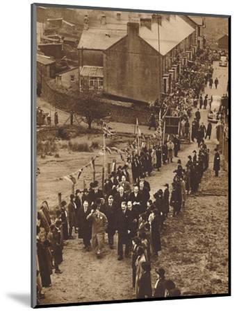 'Welcomed to Monmouthshire' - King Edward at Abertillery, Nov 1936 (1937)-Unknown-Mounted Photographic Print