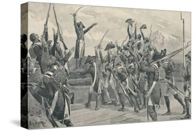 'Rampon's Soldiers Taking The Oath Never To Surrender', 1796, (1896)-Unknown-Stretched Canvas Print