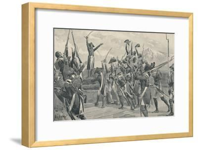 'Rampon's Soldiers Taking The Oath Never To Surrender', 1796, (1896)-Unknown-Framed Giclee Print