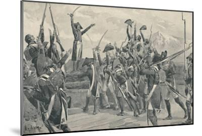 'Rampon's Soldiers Taking The Oath Never To Surrender', 1796, (1896)-Unknown-Mounted Giclee Print