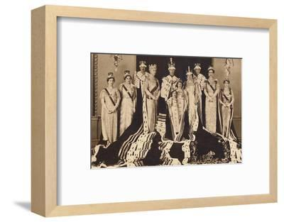 'Official Coronation Group', 1937-Unknown-Framed Photographic Print