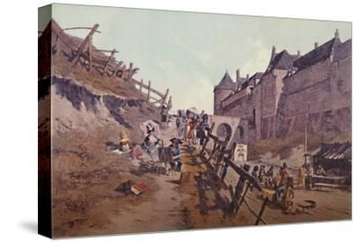 'Target Practice (Dieppe 1795)', 1896-Unknown-Stretched Canvas Print
