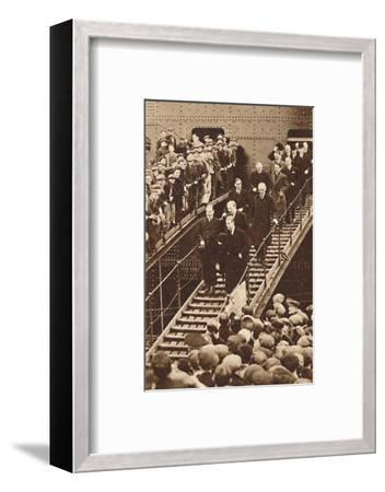 'Clydeside Cheers', 1937-Unknown-Framed Photographic Print