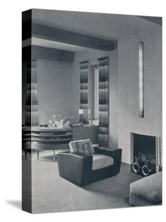 'A living-room in a New York apartment, designed by Frankl Galleries, Inc.', 1935-Unknown-Stretched Canvas Print
