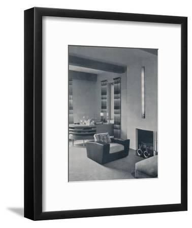 'A living-room in a New York apartment, designed by Frankl Galleries, Inc.', 1935-Unknown-Framed Photographic Print