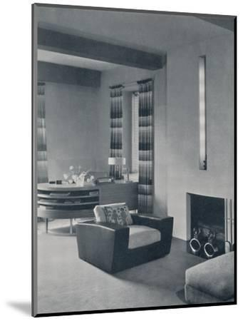 'A living-room in a New York apartment, designed by Frankl Galleries, Inc.', 1935-Unknown-Mounted Photographic Print