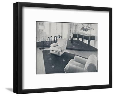 'A lounge, designed and carried out by Ian Henderson & Co., London', 1935-Unknown-Framed Photographic Print