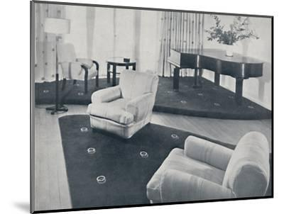 'A lounge, designed and carried out by Ian Henderson & Co., London', 1935-Unknown-Mounted Photographic Print