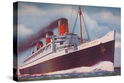 'The Mighty Atlantic Record Breaker, the Queen Mary', 1937-Unknown-Stretched Canvas Print