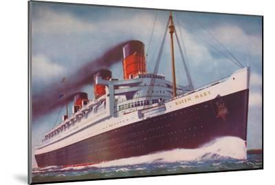 'The Mighty Atlantic Record Breaker, the Queen Mary', 1937-Unknown-Mounted Giclee Print