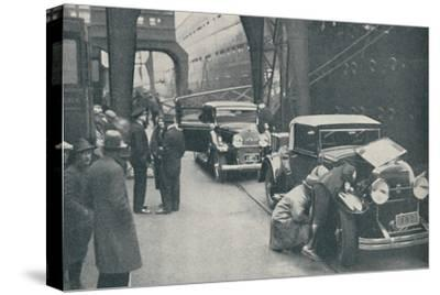 'Customs Officers Examining Motor Cars at Southampton', 1937-Unknown-Stretched Canvas Print