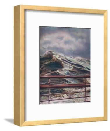 'Stormy Seas of the Atlantic Ocean from modern liner', 1936-Unknown-Framed Giclee Print