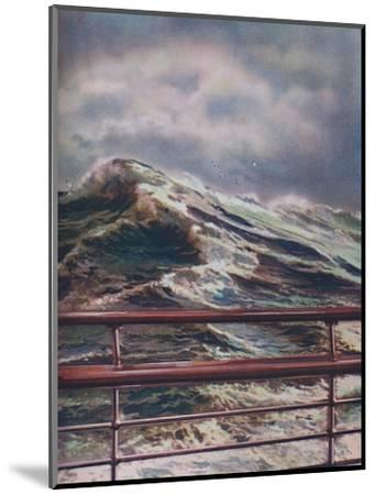 'Stormy Seas of the Atlantic Ocean from modern liner', 1936-Unknown-Mounted Giclee Print