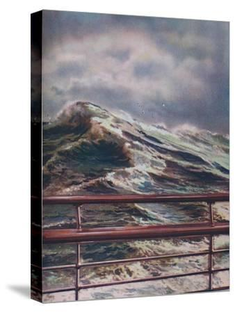 'Stormy Seas of the Atlantic Ocean from modern liner', 1936-Unknown-Stretched Canvas Print