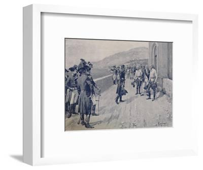 'Arranging for Masséna's Capitulation at Cornigliano, Near Genoa', 1896-Unknown-Framed Giclee Print