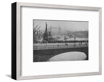 'The Upper Pool from London Bridge, one of the busiest sections of the Port of London', 1936-Unknown-Framed Photographic Print