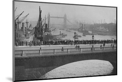 'The Upper Pool from London Bridge, one of the busiest sections of the Port of London', 1936-Unknown-Mounted Photographic Print