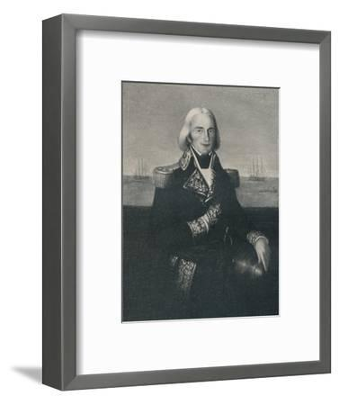 'Vice-Admiral François-Paul Brueys D'Aigalliers, c 1790s, (1896)-Unknown-Framed Giclee Print