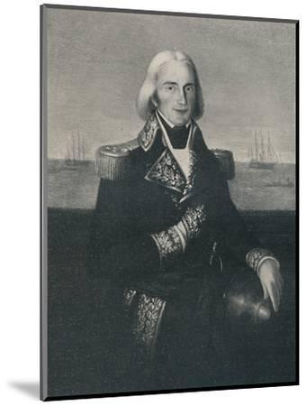 'Vice-Admiral François-Paul Brueys D'Aigalliers, c 1790s, (1896)-Unknown-Mounted Giclee Print