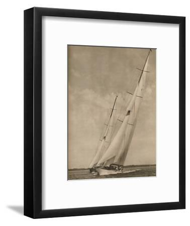 'Two Famous Yachts in an exciting contest', 1936-Unknown-Framed Photographic Print