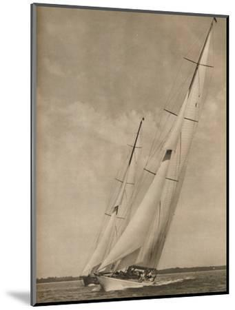 'Two Famous Yachts in an exciting contest', 1936-Unknown-Mounted Photographic Print