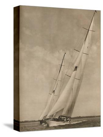 'Two Famous Yachts in an exciting contest', 1936-Unknown-Stretched Canvas Print