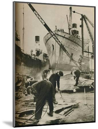 'On the Firth of Forth. Shipbreaking at Bo'ness West Lothian', 1937-Unknown-Mounted Photographic Print