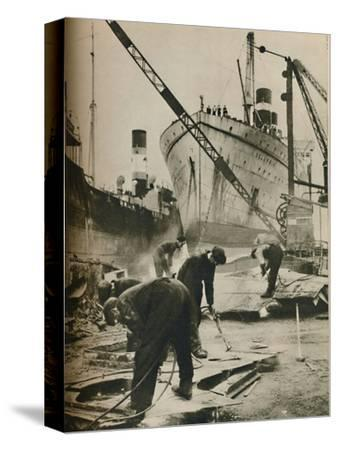 'On the Firth of Forth. Shipbreaking at Bo'ness West Lothian', 1937-Unknown-Stretched Canvas Print