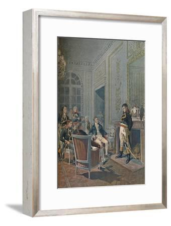 'The Family Council As To The Life Consulate', 1896-Unknown-Framed Giclee Print