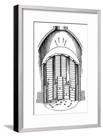 'A Biscuit Oven filled with Seggars s. AA are the flues', c1917-Unknown-Framed Giclee Print
