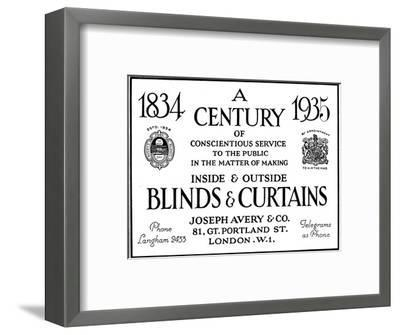 'A Century of Conscientious Service To The Public', 1935-Unknown-Framed Photographic Print