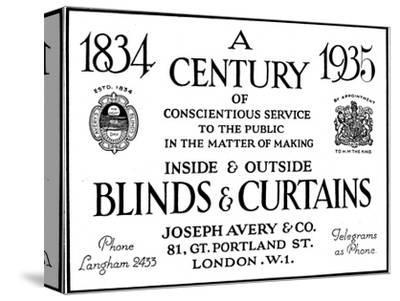 'A Century of Conscientious Service To The Public', 1935-Unknown-Stretched Canvas Print