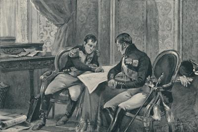 'Napoleon and Alexander at Tilsit Studying The Map of Europe', 1807, (1896)-Unknown-Framed Giclee Print