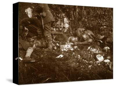 Aftermath of battle, c1914-c1918-Unknown-Stretched Canvas Print
